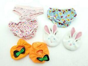 Build A Bear Hello Kitty Sanrio Flower 3 Underwear + Pumpkin and Bunny Slippers