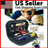 16PCS WATCH Repair Back Opener Kit Tools Band Pin Strap Link Remover Remover New