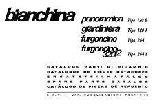 CD CATALOGO RICAMBI AUTOBIANCHI BIANCHINA PANORAM.GIARDINIERA 120 FURGONCINO 264