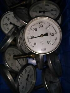 WIKA Bimetall Zeigerthermometer Ø10cm Thermometer Luftmessung 0-60°C TL60 mm NEU