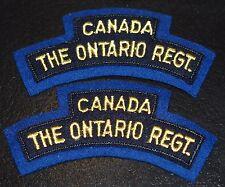 Canada The ONTARIO REGIMENT Cloth Shoulder Flashes badge