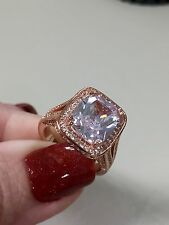 Victoria Wieck Cushion Cut 10CT Topaz set in 925 Sterling Silver Rose gold pl 8