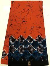 BATIK PRINT PATTERN - African Print Fabric /100% Cotton, Orange