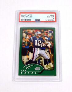 2002 Topps Tom Brady #248 Patriots PSA 6 DA044988