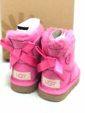 Ugg Australia Kid's MINI BAILEY BOW II Toddlers Pink Azalea Boots 1017397T