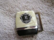 """Vintage Silver Plated Art Deco Initial """"E"""" Mother of Pearl"""