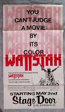 Wattstax  Premiere Movie Poster Orpheum Theatre ISAAC HAYES Blaxploitation 1973