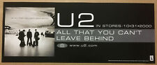 U2 Rare 2000 Banner Promo Poster w/ Release Date for All That Cd 20x8 Mint Usa