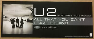 U2 Rare 2000 BANNER PROMO POSTER w/RELEASE DATE of All CD 20x8 USA NEVER DISPLAY