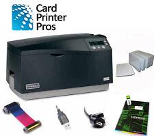 Fargo DTC550 Dual side PVC ID Card Badge Printer Package (60 Day Warranty)