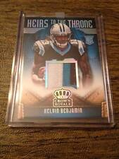 "2014 ""HEIRS TO THE THRONE"" KELVIN BENJAMIN PRIME 3CLR JERSEY PATCH RELIC RC /99!"