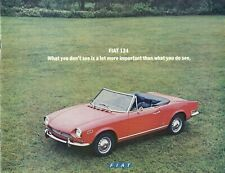 1970 Fiat 124 14-page Original Sales Brochure Catalogue - Spider Sport Coupe