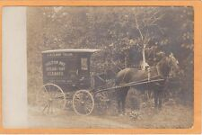 Real Photo Postcard RPPC - Horsedrawn Steam & Dry Cleaner Wagon L H Clark Tailor