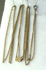 Slide On Gold Filled Ladies Watch Chain Victorian Antique 14K Gold Opal & Pearl