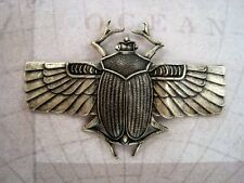 X-Large Oxidized Brass Plated Scarab Stamping (1) - BOFF2926-1 Jewelry Finding