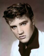 "ELVIS AARON PRESLEY KING OF ROCK & ROLL 1955 8x10"" HAND COLOR TINTED PHOTOGRAPH"