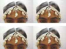 1-LOT BELLY DANCE KUCHI TRIBAL COWRIES HEAD PIECE DAMNI TIKKA INDIAN JEWELRY