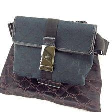 Auth Gucci Waist Bag GG Canvas Ladies used J10932