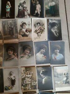 Postkarten Frauen und Kinder