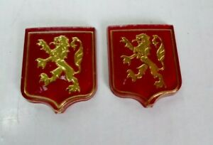 2 X Logos PEUGEOT 101  102  103 104  GT10  Sigle Emblème D'origine Lion
