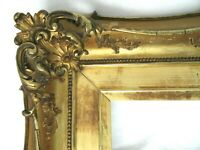 ANTIQUE FITS 10 X 12 GOLD GILT FRENCH LOUIS CARVED WOOD BAROQUE PICTURE FRAME
