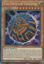 YU-GI-OH SECRET RARE CARD: THE DESPAIR URANUS - DRL3-EN009 - 1ST EDITION