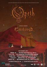 Opeth / Enslaved 2017 Uk Concert Tour Poster- Progressive Death Metal/Rock Music