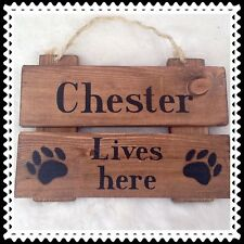 rustic wood sign . plaque . pet dog gift . FRENCH BULL DOG . CHIHUAHUA . PUG