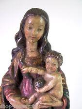 schöne Madonna  mit Jesukind -  Holz geschnitzt & gefasst um 1940/50