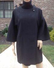 Rare M_NWT ZARA BLACK LONG BLAZER With Cap Sleeve Pocket CARDIGAN JACKET COAT