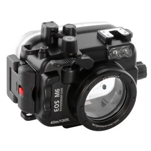 40m/130ft Underwater Camera Diving Housing Case for Canon EOS M6 22mm Lens New