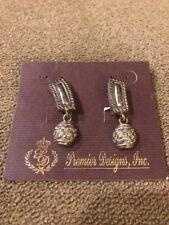 "Clip Earrings $29 (Dc) Premier Designs ""Footloose"" Silver Toned"