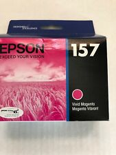 Genuine Epson 157 Vivid Magenta Ink Cartridge T157320 Stylus Photo R3000 01/2016