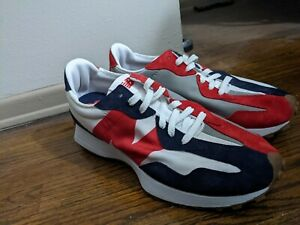 NEW BALANCE 327 MS327RP SNEAKERS SIZE 11.5 D BLUE/WHITE/RED