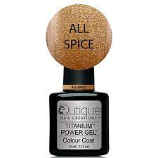 Qutique ALL SPICE Soak Off LED/UV Gel Nail Polish Colour -Copper Metallic