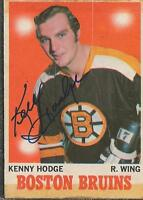 Ken Hodge 1971 OPC Autograph #115 Boston Bruins