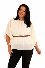 Plus Size Batwing Chiffon Top Party Evening Top With Belt Size 18 20 22 24 26