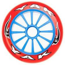 YAK Scooter Wheel -  Plastic Core - 125mm  - 78A -  BLUE / RED