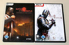 2 PC Jeux Bundle-Knights of the Temple-Infernal CROISADE & II-DVD Housse