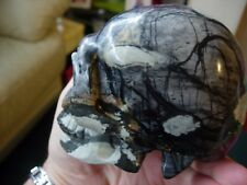 Crystal skull large Picasso stone or scenic jasper Hq 8