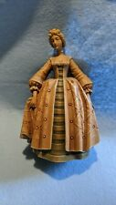 "Anri Vintage Carving Wood Victorian Lady Figurine 5.5"""