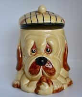 Vintage Price&Kensington Yellow Droopy Dog Biscuit Barrel Cookie Sweets Jar