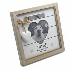 Personalised Woof Dog Photo Frame - Vintage Rustic Style With Sentiments 56890-p
