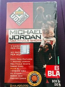 Michael Jordan NBA Finals Shots Unopened sealed box Upper Deck UD Choice