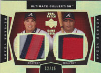 2003 Ultimate Collection Dual Patch Gold #CA Chipper Jones Andruw Jones #/35