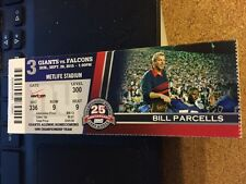 2015 NEW YORK GIANTS VS ATLANTA FALCONS NFL TICKET STUB 9/20 BILL PARCELLS