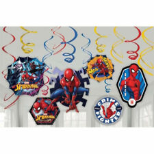 Marvel Spider-Man Swirl Decoration Birthday Party Supplies Dangler Pack of 12