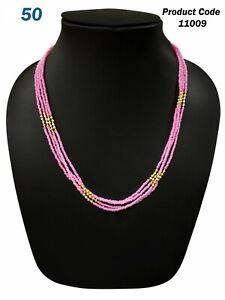 Most Beautiful haar Mala Necklace Stylish Daily party wear Royal Pink Color