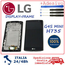 Display LCD e Touch Screen Vetro + Frame Assemblato Per LG G4S mini  H735 Nero