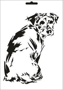 Wandschablone Maler T-shirt Schablone W-630 Hund ~ UMR Design